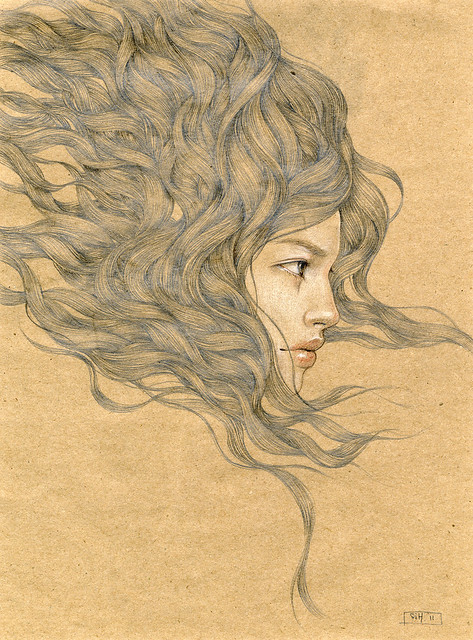 "Untitled 1. 12"" x 9"". Graphite & Colored Pencil on Paper. © 2011."