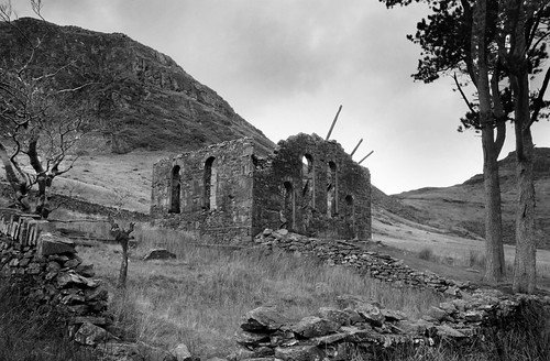 The ruined chapel, Cwm Orthin by Helen in Wales