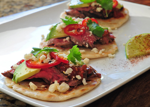 tecate skirt steak tacos