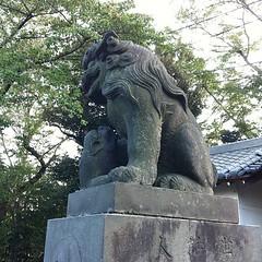狛犬探訪 太田神社 阿吽とも子連れ