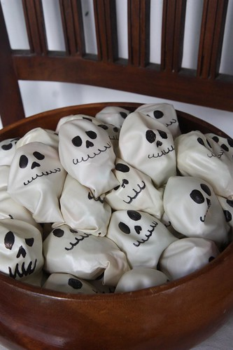 Candies in Skull Balloons