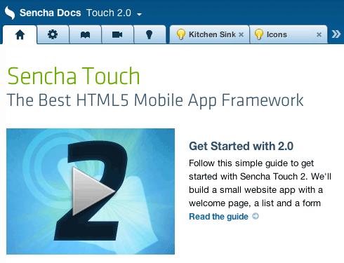 Sencha Touch 2.0