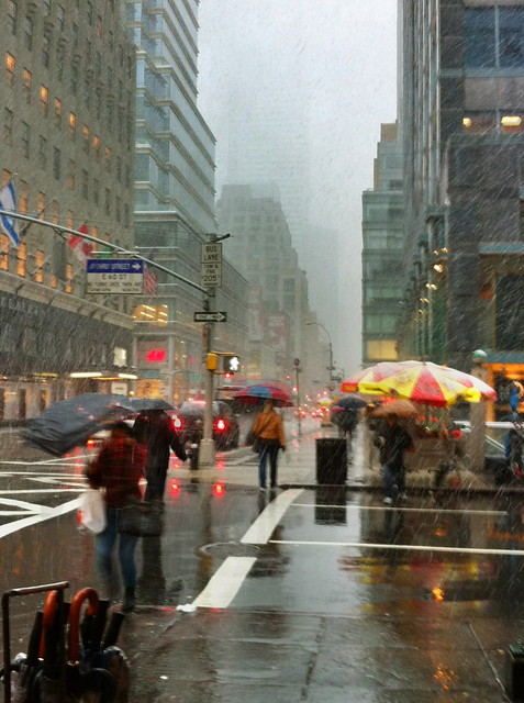 Storm Scene: the Nor'easter in Manhattan