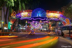The colours of Deepavali 2011. (Reggie Wan) Tags: city tourism night singapore asia southeastasia cityscape streetscene littleindia serangoonroad asiancity deepavalidecoration reggiewan sonya850 sonyalpha850 gettyimagessingaporeq1