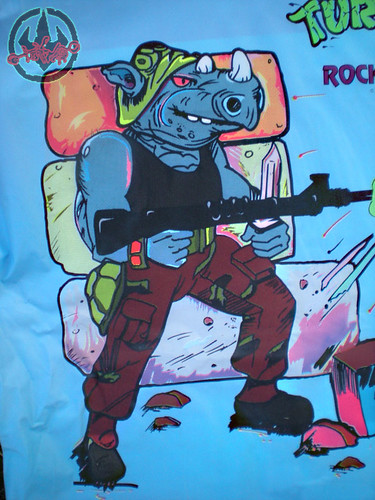 "Collegeville Costumes :: TEENAGE MUTANT NINJA TURTLES { OPPOSITION FORCES! } : ""ROCKSTEADY"" Medium Children's Costume with Mask iii (( 1990 ))"