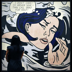 Drowning Girl ... (Dreamer7112) Tags: nyc newyorkcity ny newyork brad museum square nikon comic squares manhattan cartoon moma museumofmodernart midtown explore popart lichtenstein momany d300 roylichtenstein drowninggirl nikond300