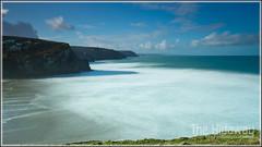 Porthtowan (Simon Bone Photography) Tags: longexposure sea sky cloud sun beach cornwall smooth cliffs porthtowan cornishcoast canon1740mmlf4 wwwthehidawaycouk cokinpfilters canoneos7d hoyandx400 9stopfilter