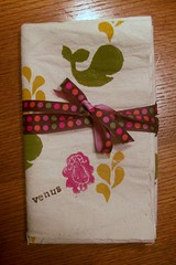 whales for venus (imaginegnats) Tags: handmade fabric swap handprinted blockprinting onegirl