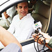 Rahul Gandhi interacts with media in Varanasi