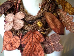 Long and Leafy Scarf- Sienna Tweed with Rust, Brown, and Golden Embroidered Leaves (Betsie Withey) Tags: flowers autumn brown motion tree art nature leaves mi forest scarf woodland botanical gold leaf women knitting rust felting handmade embroidery michigan unique cinnamon crochet inspired sienna knit handknit free vine folklore elf fairy fantasy jungle mustard accessories organic etsy wearable fiberart rowan embroidered autumnal saugatuck faerie enchanted summertweed fantastical arttowear artscarf fairywear