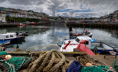 Brixham Harbour (rosyrosie2009) Tags: uk sea england seascape water boats photography coast nikon flickr photos devon ropes hdr westcountry brixham coastpath torbay photomatix tonemapped devonandcornwall brixhamharbour d5000 rosiesphotos nikond5000 tamronspaf1024mmf3545diiildasphericalif rosiespooner rosyrosie2009 rosemaryspooner netsfishingnets rosiespoonerphotography