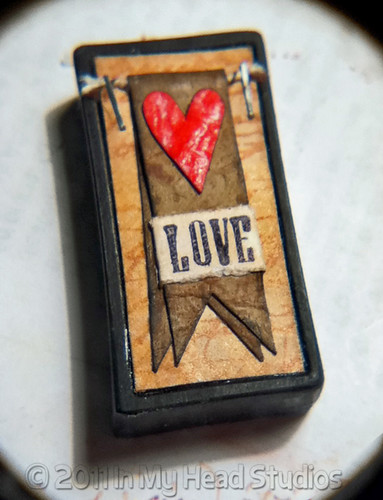 Love Banner Domino Pendant