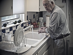 dad whistling whilst washing dishes (vrot01) Tags: dad explore dishes whistle dementia ep1 frontpageofexplore 87yearsold slrmagic26f14