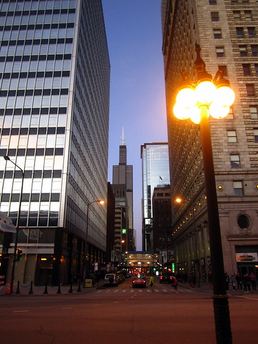 Michigan Ave at Jackson, early am