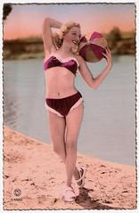 Take Me Out to the Ball Game (Truus, Bob & Jan too!) Tags: beach beauty vintage pc postcard bikini postal bathing swimsuit pinup postale swimwear cartolina carte maillot postkarte ansichtkaart postkaart tarjet briefkarte