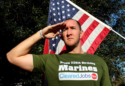 Saluting the Marine Corps