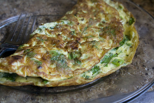 Spinach, Pepper, and Onion Omelet Recipe