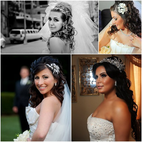 Bridal Styles Boutique brides with half up half down hairdos bridal hair