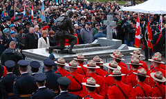 Remembrance Day,  11 November 2011, Museum Square, Surrey BC (PhotoDG) Tags: people soldier bc britishcolumbia surrey poppy rcmp remembranceday remembrance veteran cloverdale worldwar iso1600 inflandersfields lestweforget museumsquare surreybc vancouvre greatvancouver mayorwatts diannewatts 11november2011 clovodale