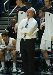 Coach Chambers on the Sideline (acaben) Tags: basketball coach pennstate collegebasketball ncaabasketball psubasketball pennstatebasketball coachchambers patrickchambers