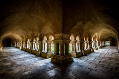 La qute (RVBO) Tags: nb abbaye cloitre