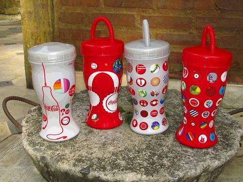 2011 Rock in Rio 700 ml 4 Promo Plastic Cups Coca-Cola Rio de Janeiro by roitberg
