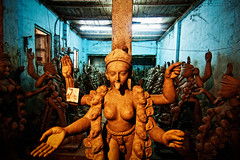 Preparation for Kali Puja : Kumartuli, Kolkata [ Color Version ] (Sukanta Maikap Photography) Tags: india streetphotography diwali kolkata calcutta westbengal kalipuja dipabali tokina1116f28 goddesskaliidols clayidolshalffinishedidols unfinishedkaliidols canon450dtokinaatxprosd1116mmf28ifdx somewherenearkumartuli