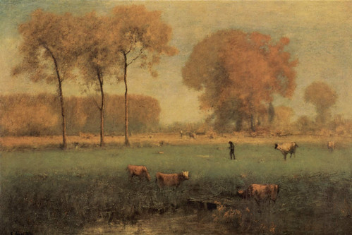 George Inness 'Summer Landscape' 1894 by Plum leaves