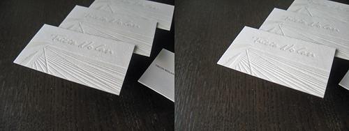 Tricia Nolan Letterpress Business Cards