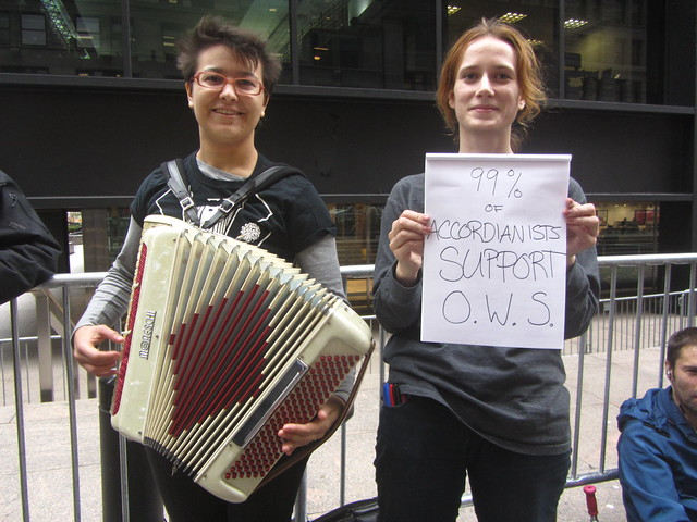 occupy wall street with your accordion!