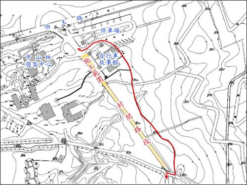 自行車道標示工程施工範圍及封閉路段示意圖.gif