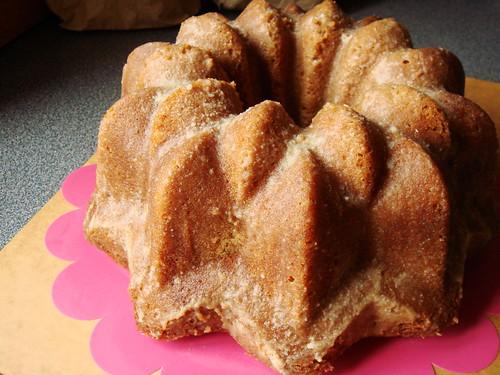 Bahamian Rum Cake: Unmolded