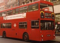 DMS1911, Croydon, March 1982 (aecregent) Tags: 75 croydon lt daimler fleetline mcw dms dms1911 kuc911p