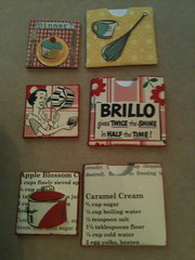 Inchies to go with my 1950's kitchen Swapbot swap (amyclara) Tags: kitchen 1950s shrines matchbox fills swapbot inchies