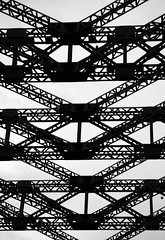 Wearmouth bridge (Robeevans) Tags: road uk greatbritain bridge england canon river eos rebel britain north engineering structure wear east sunderland 500d wearmouth t1i