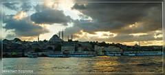 Istanbul skyline (-NACH-) Tags: sunset skyline istanbul mosque turquie layer turquia sleymaniye bosphore eminn 2011 vapeur hali iskelesi bibble5 solimane