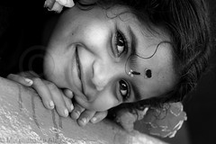 Sweet Smile (Light and Life -Murali ) Tags: portrait bw girl smile blackwhite todraw img7583p1sc