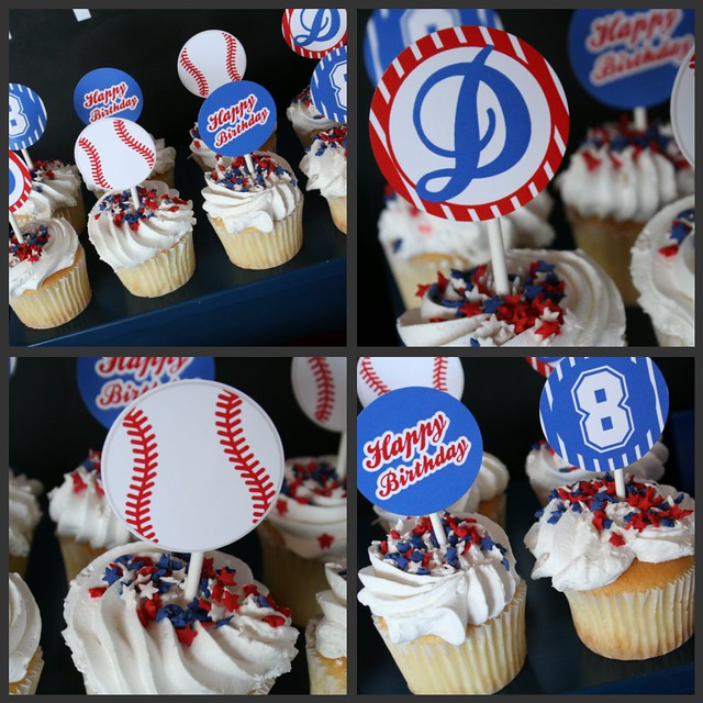 Baseball Collage - Cupcakes