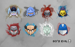 80's Evil Wallpaper (Joe Payton) Tags: wallpaper evil 80s megatron skeletor shredder gargamel mumra coldheart lotor cobracommander