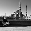 mosque + newspaper-readers = a good turkish morning // sultanahmet, istanbul (pamela ross) Tags: street morning woman pen turkey newspaper hijab olympus istanbul mosque headline ep1 newmosque