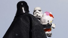 She is mine (Kalexanderson) Tags: trooper starwars fight holding mine sweden stockholm hellokitty stormtrooper darthwader lillmacho donttakeher