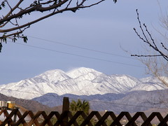 snow on mountains last eve (dagutzyone ) Tags: joshuatree mojavedesert yuccavalley