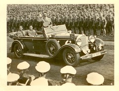 The Fuhrer being greeted (syed ali hamid) Tags: history germany mercedes benz hitler olympics 770 shahid w07 hess  offener rally berlin youth hamid mercedes syed 1936 rudolph hess tourenwagen iia19357 nuremburg hitlers