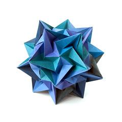 Paradigma (_Ekaterina) Tags: blue star origami modular unit polyhedron modularorigami kusudama unitorigami lukasheva ekaterinalukasheva multimodular