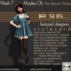 je suis...featured designer - week 7 - Maylee Oh, The Secret Store (je suis... Julia Merosi) Tags: jesuis featureddesigner leahmccullough juliamerosi