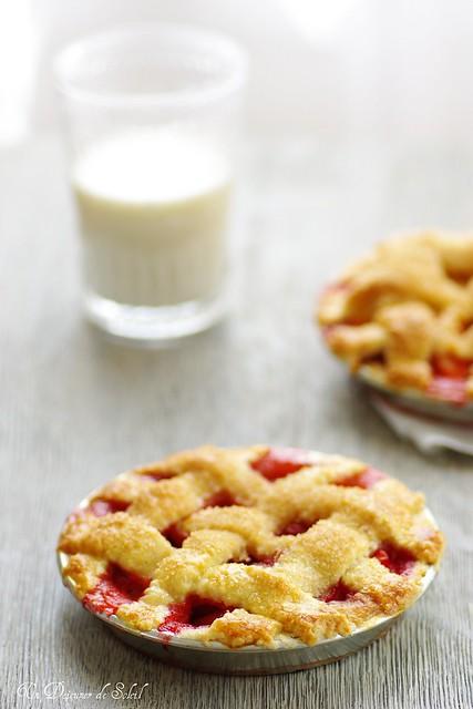 Strawberry and apple pie - Pie de fraises et pomme