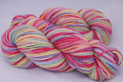 "Garden of ""Eden""  on Mountain Meadow Spirit Organic Merino Worsted and Bulky(...a time to dye)"