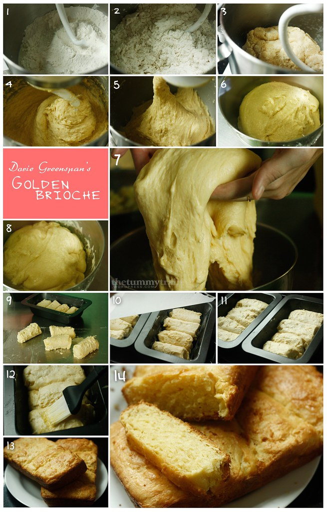 Golden Brioche Loaves- the making