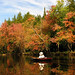 A paddler on the Raquette River between Axton and Raquette Falls. Photo: Marc Wanner, Saranac Lake NY.