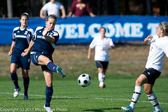 NCAA Soccer (n8xd) Tags: girls woman net college sports girl female nikon women university state nu action ferris womens shorts f2 vs northwood collegiate 200mm f20 2011 glvc gliac d3s microwavephoto
